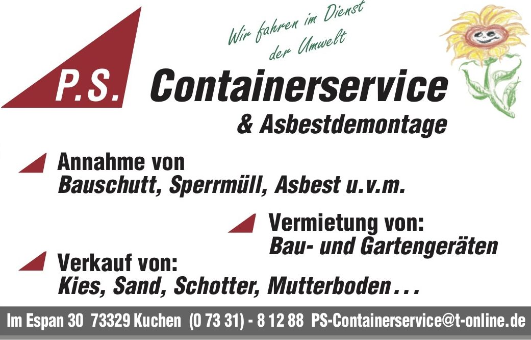 P.S. Containerservice Kuchen